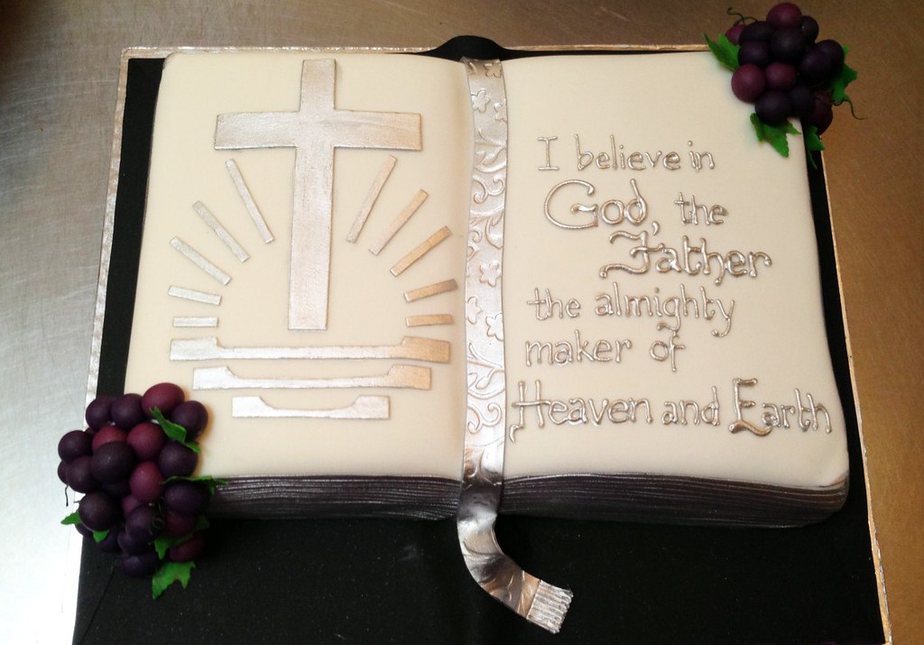 Bible Shaped Birthday Cake