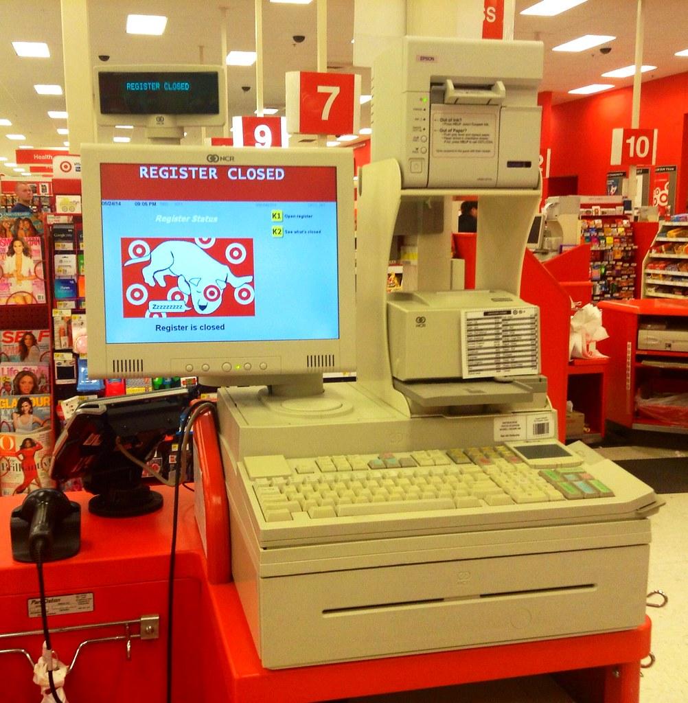 Target Cash Register Target Store Cash Register Closed
