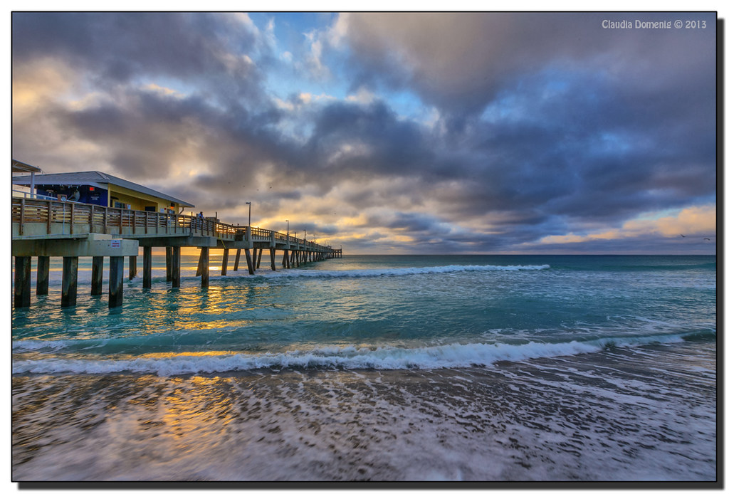 Dania beach fishing pier north hollywood fl view on for Hollywood florida fishing