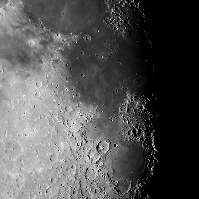 Armstrong Crater and a Man's First Step on the Moon ...