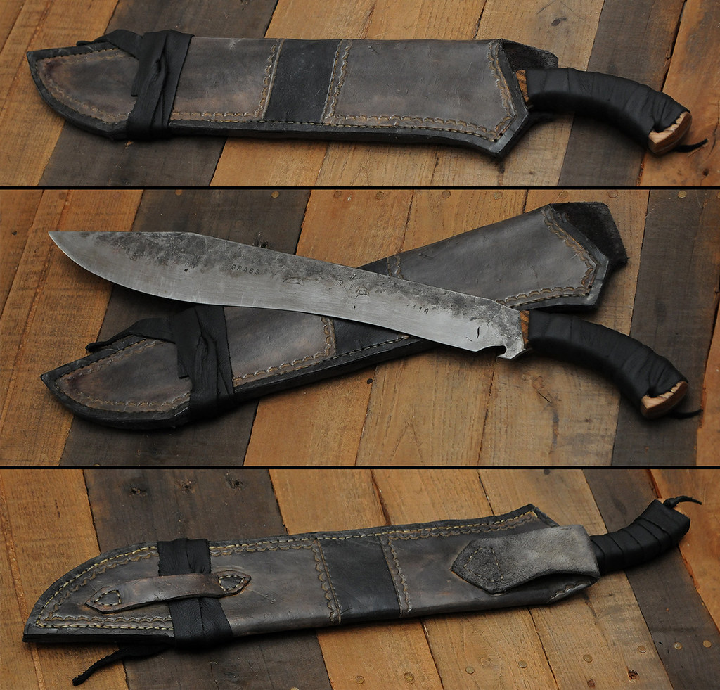 Lawnmower blade forged knife | Figured it was about time I ...
