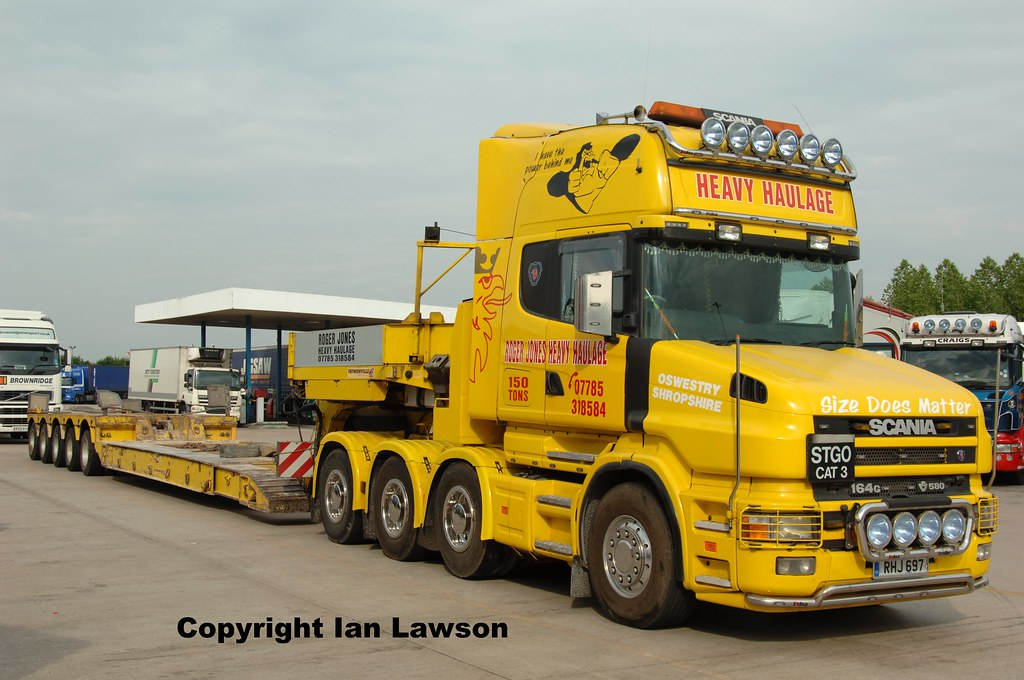 RHJ 697 Roger Jones Heavy Haulage Scania 164 580 8 x 4 Top… | Flickr