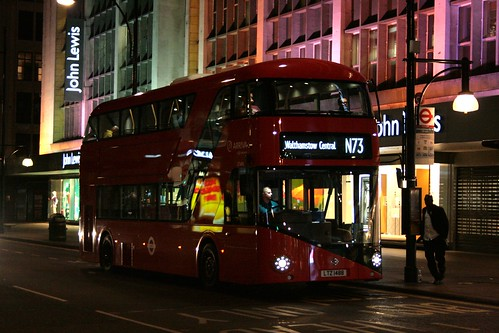 Arriva London LT488 on Route N73, Oxford Street