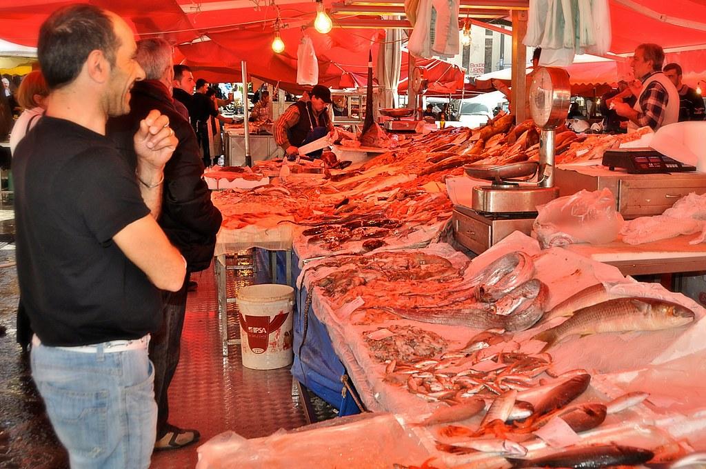 Fish Market The Fish Market In Catania Sicily Italy