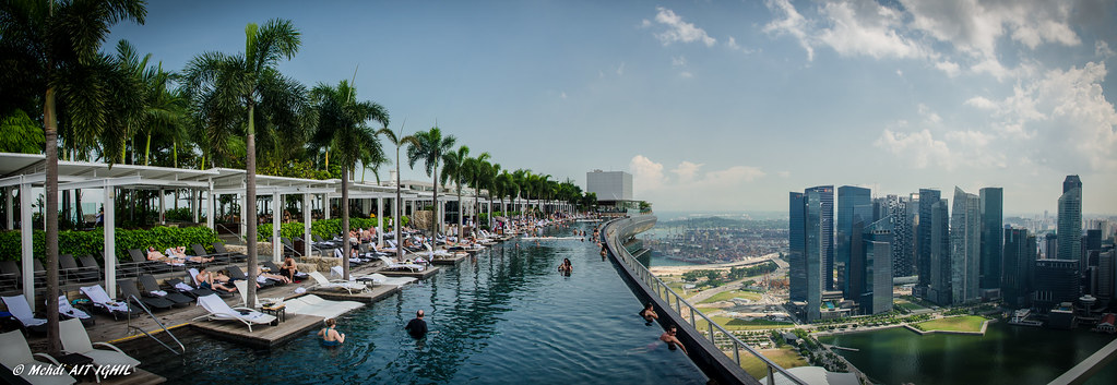 Marina Bay Sands Roof Top Swimming Pool Mehdi Ait Ighil Flickr