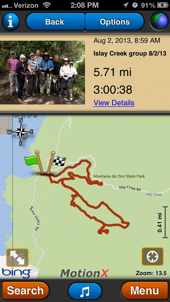 MotionX GPS App screenshot of map and stats. | MotionX GPS ...