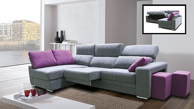 Sofa combinado en color gris y frambuesa bonito sofa de 3 flickr - Colores de sofas ...