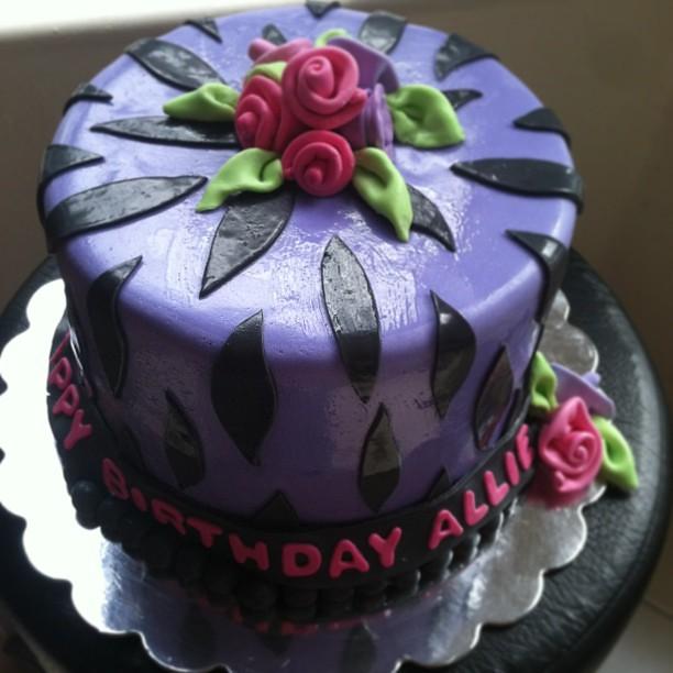 Happy Birthday Allie Cake. #belindacakes.