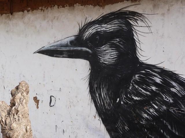 Dibujo de una de las aldeas pintadas de Gambia