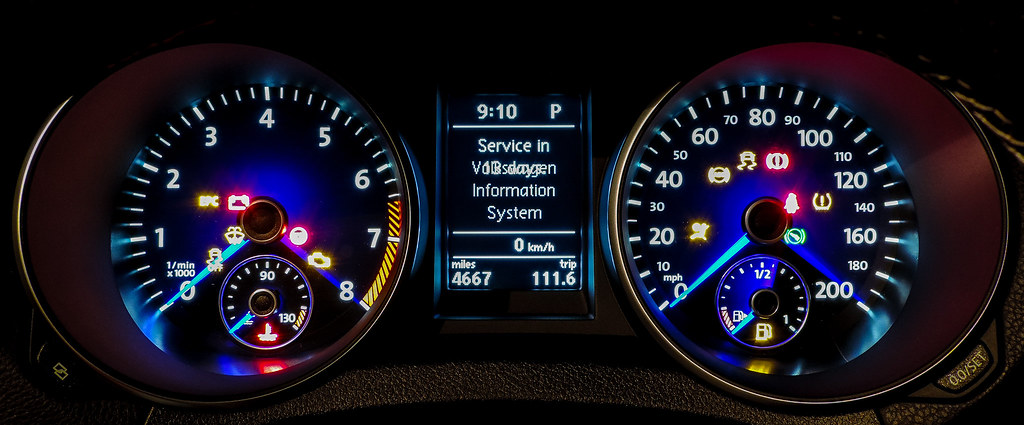 Vw Golf R Instruments For The Vw Golf R On Start Up