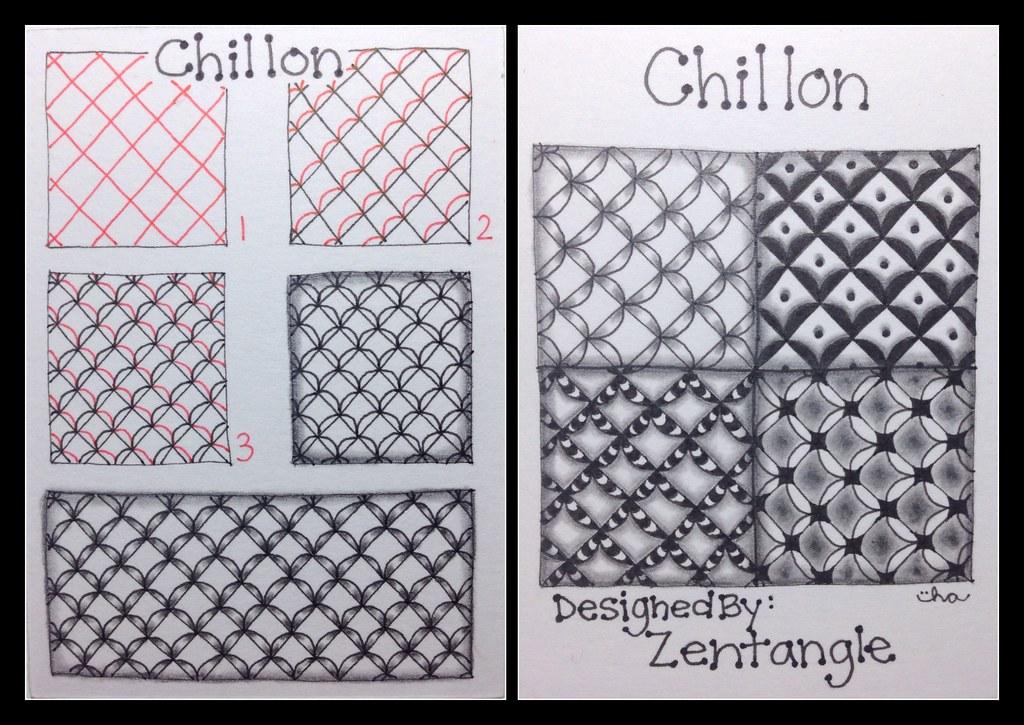 Zentangle Tangle Pattern Chillon Wow It Definitely T Flickr