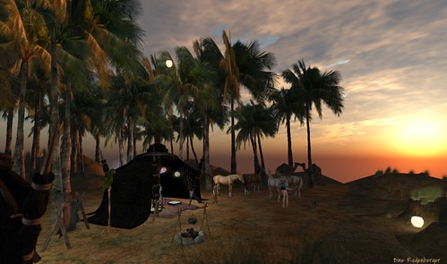 Oasis from Second Life digital world, to illustrate a post on multi-dimensional rewilding by Yang-May Ooi
