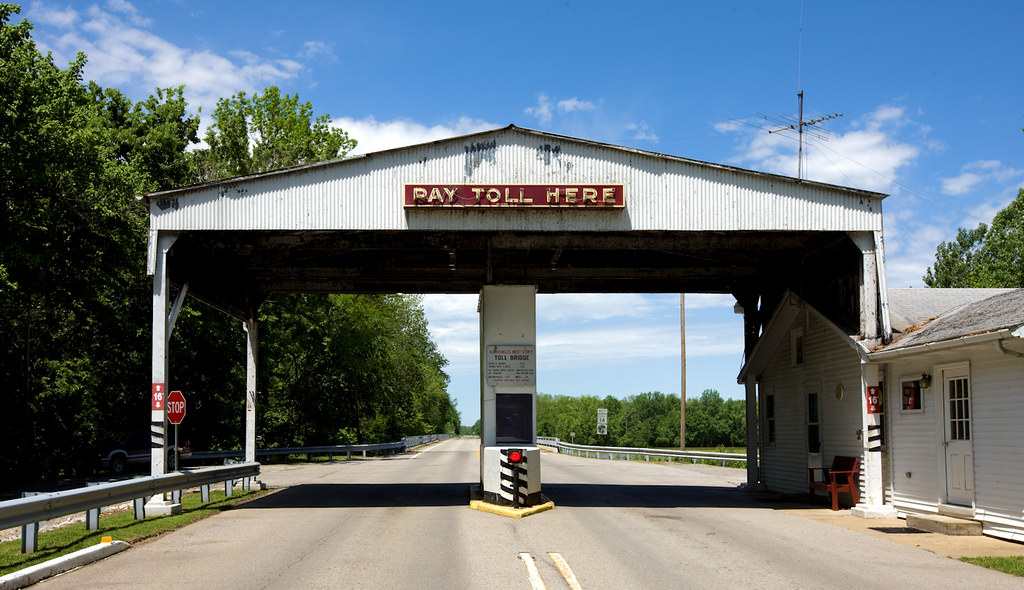 Toll booth at the entrance of Historic New Harmony, Indiana. 2009. May 9. Photograph: Carol M. Highsmith