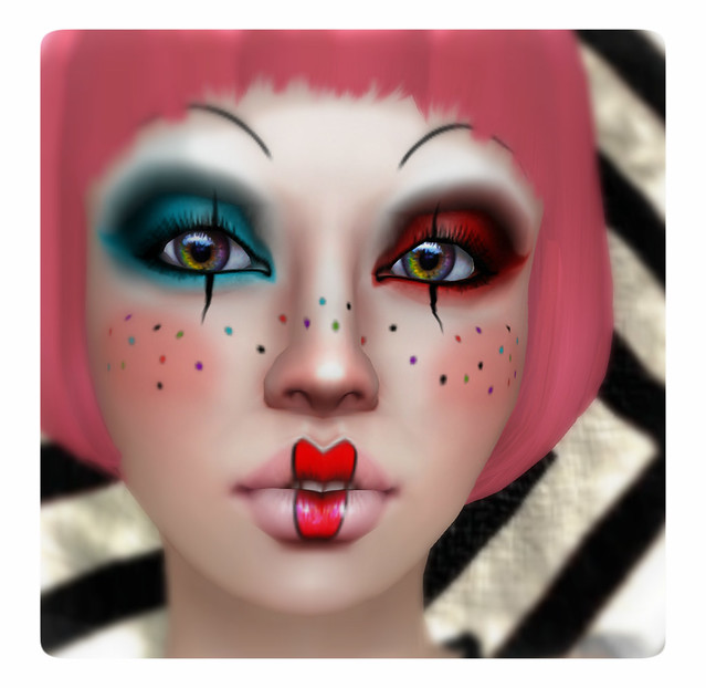 Cute clown makeup