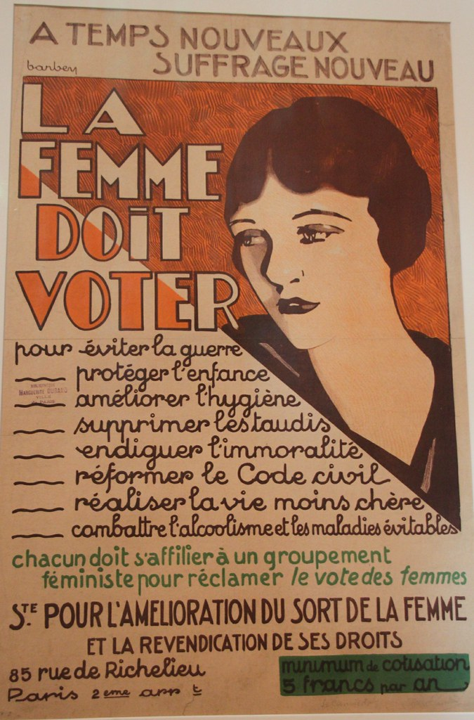 la femme doit voter affiche women voting right france flickr. Black Bedroom Furniture Sets. Home Design Ideas