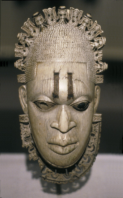 hip or pendant mask of the iyoba  queen mother  idia
