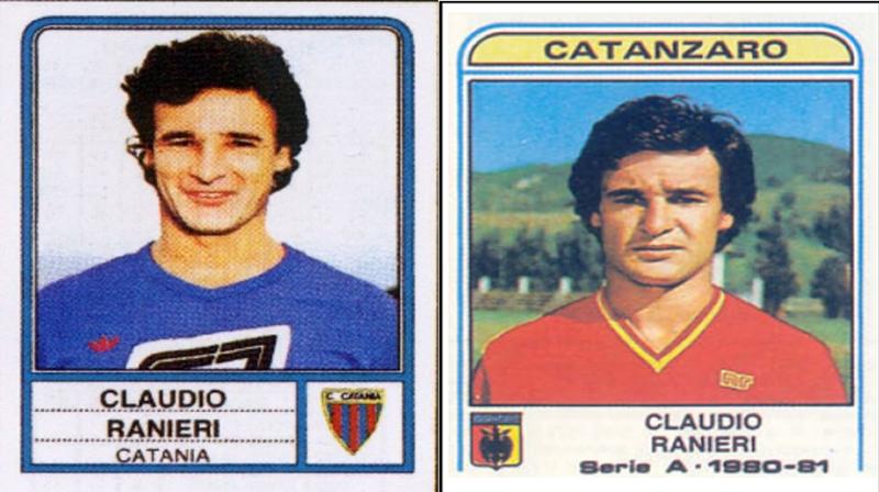 Un doppio Claudio Ranieri riprodotto dalle figurine Panini