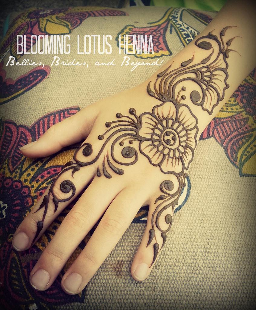 Mehndi Lotus Designs : Arabic flow henna hand bloominglotushenna flickr