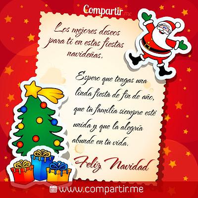 Hermoso mensaje para dedicar por navidad tarjeta navide for Objetos de navidad