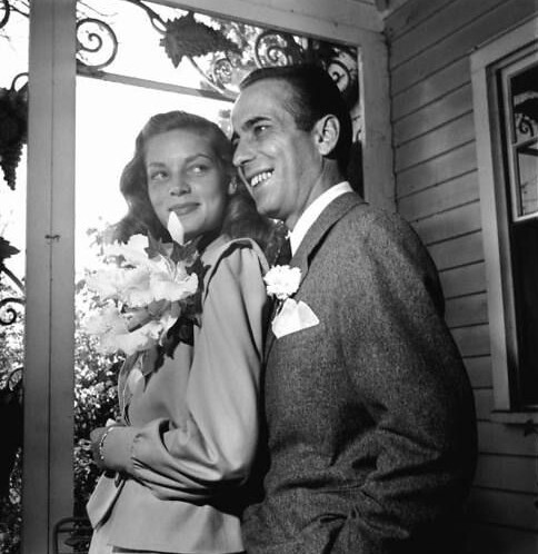 She was 20 and he was 45, yet Lauren Bacall and Humphrey Bogart remained happily married until his death. She wore a pink suit to their low-key wedding at Malabar Farm.