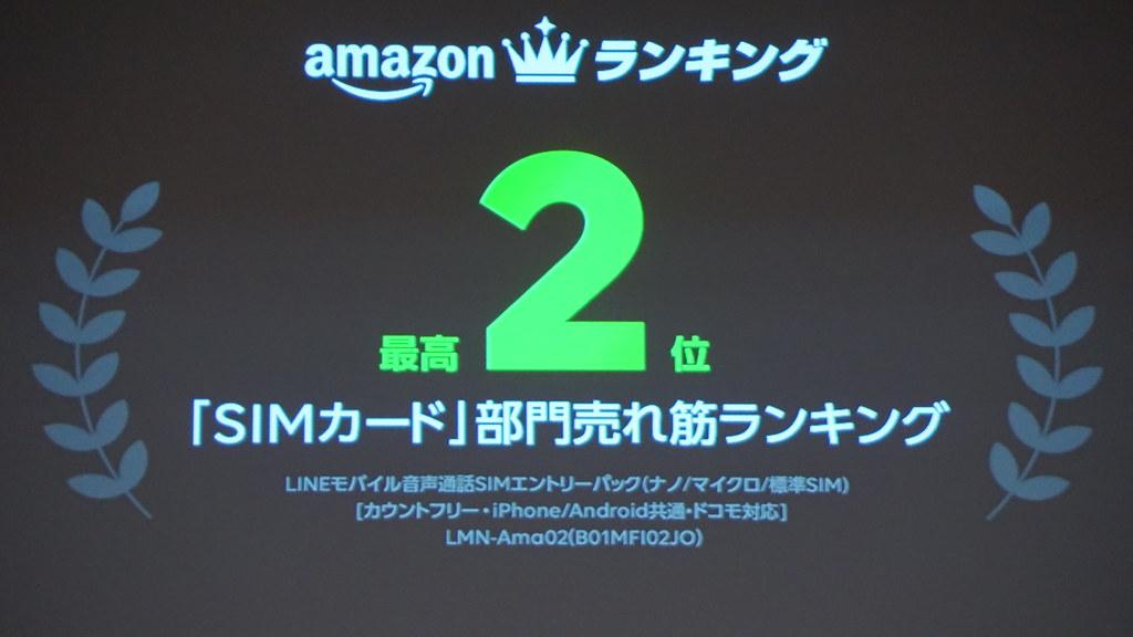 Amazonランキング「SIMカード」部門売れ筋ランキング2位 音声通話SIMエントリーパック