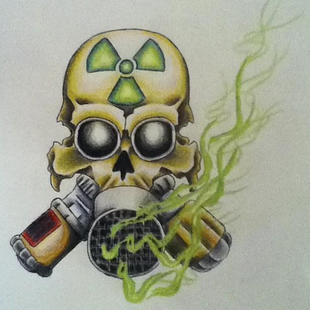 Radiation Tattoo Design