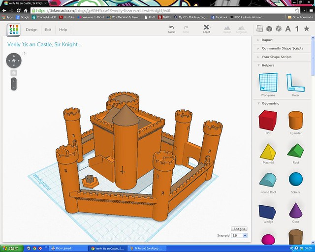 Tinkercad Jonskipop Castle 2 Flickr Photo Sharing