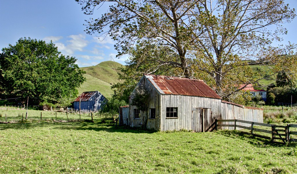 Old farm building te kouma coromandel new zealand flickr for New build farmhouse