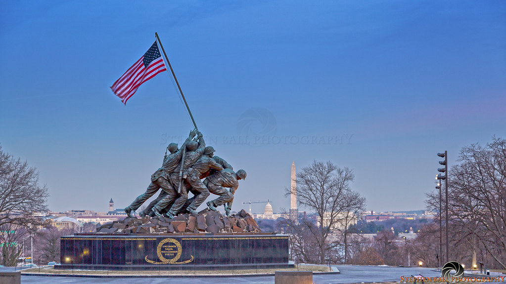 US Marine Corps Memorial | Also known as the Iwo Jima ...