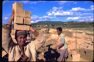A woman and her friends run a brick-selling business, Madagascar | by United Nations Development Programme