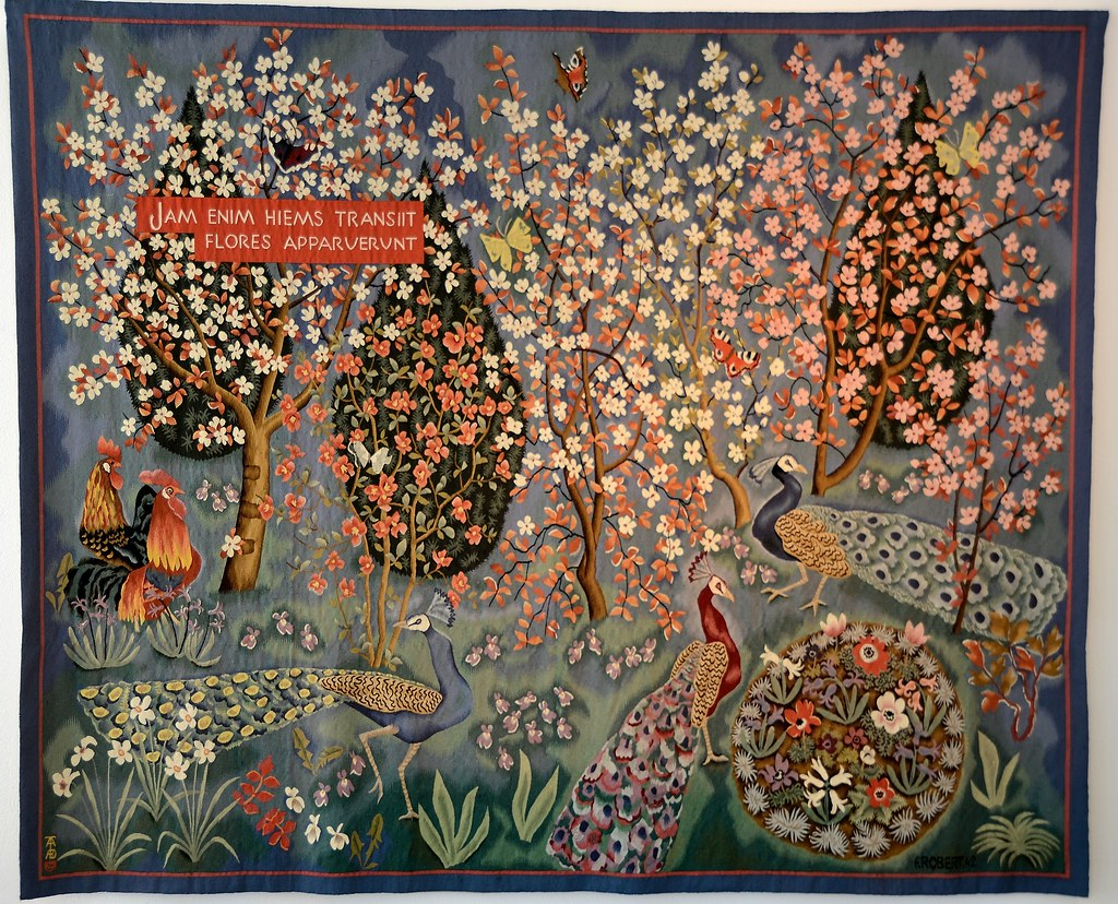 Tapisserie de dom robert le printemps carton de 1942 - Galerie nationale de la tapisserie beauvais ...