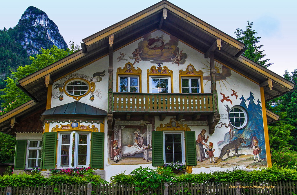 little red riding hood mural house in oberammergau ger 1