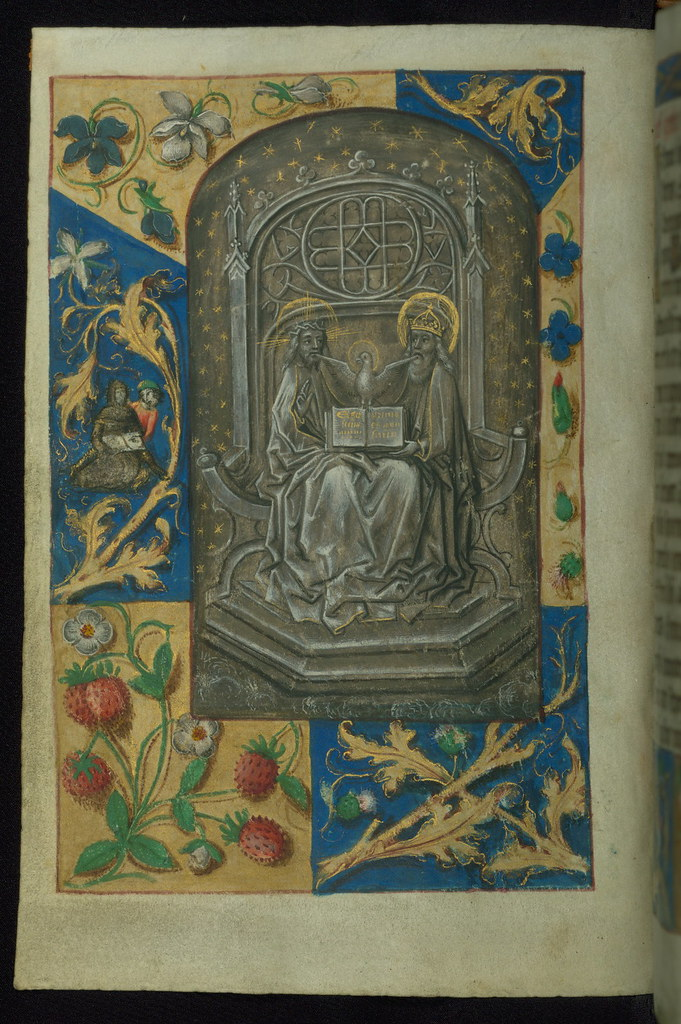 book of hours  trinity enthroned  walters manuscript w 189