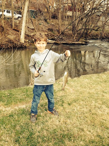 Photo of boy with trout