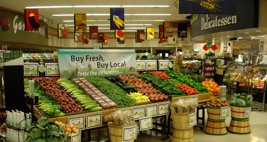 Waterfall Fruit And Veggie Displays: Buy Fresh Buy Local Produce Display Fort Bragg North, N.C