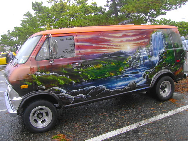 Cruisin Ocean City >> 1974 Ford Econoline 100 | That mural was painted in 1976! 16… | Flickr