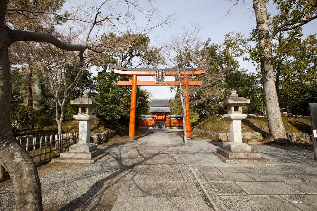 Torii gate at Tenryuji Temple Gardens