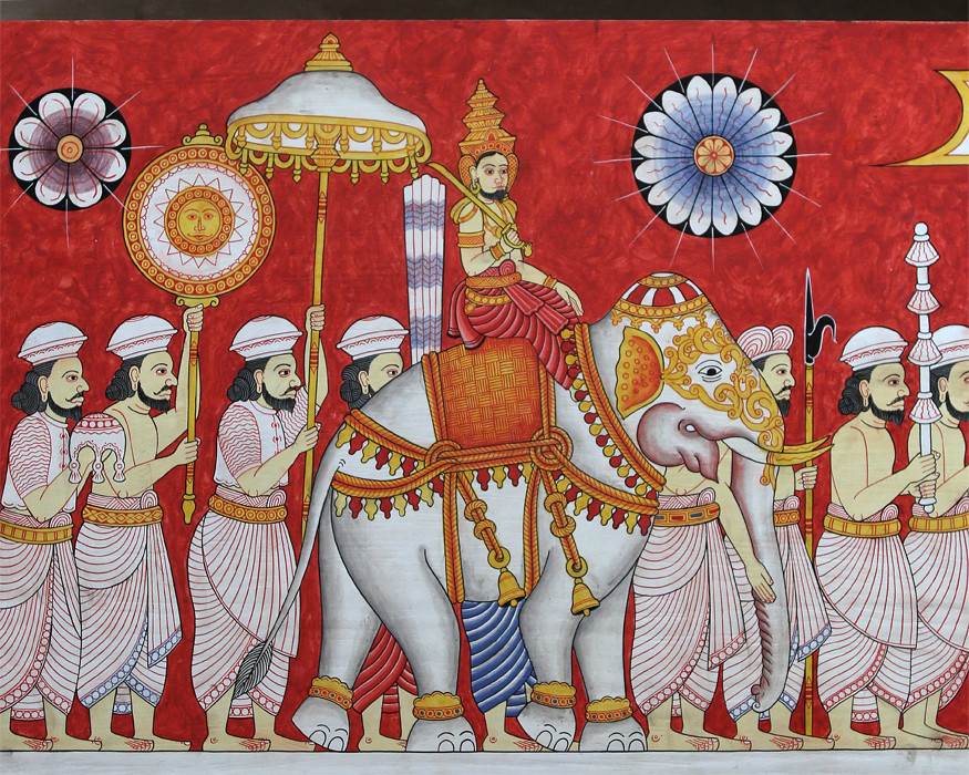 Painting of a Perahera (IMG_1099b) | A painting of a ...