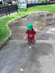 タコ公園のじゃぶじゃぶ池で遊ぶ 2015/7