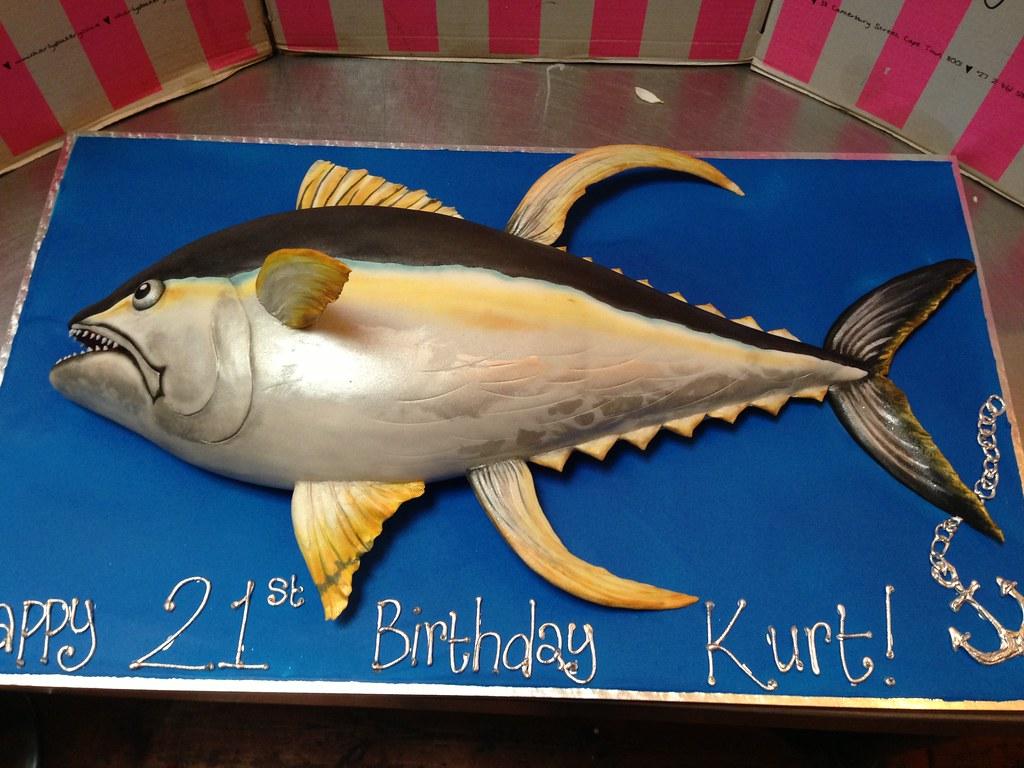 Yellowfin Tuna Fish Birthday Cake Charly S Bakery Flickr