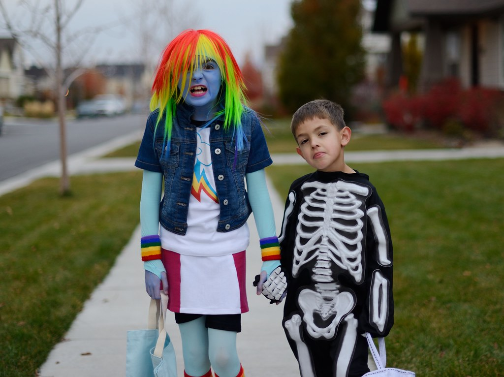 Rainbow Dash And Skeleton Boy Jason Cameron Flickr