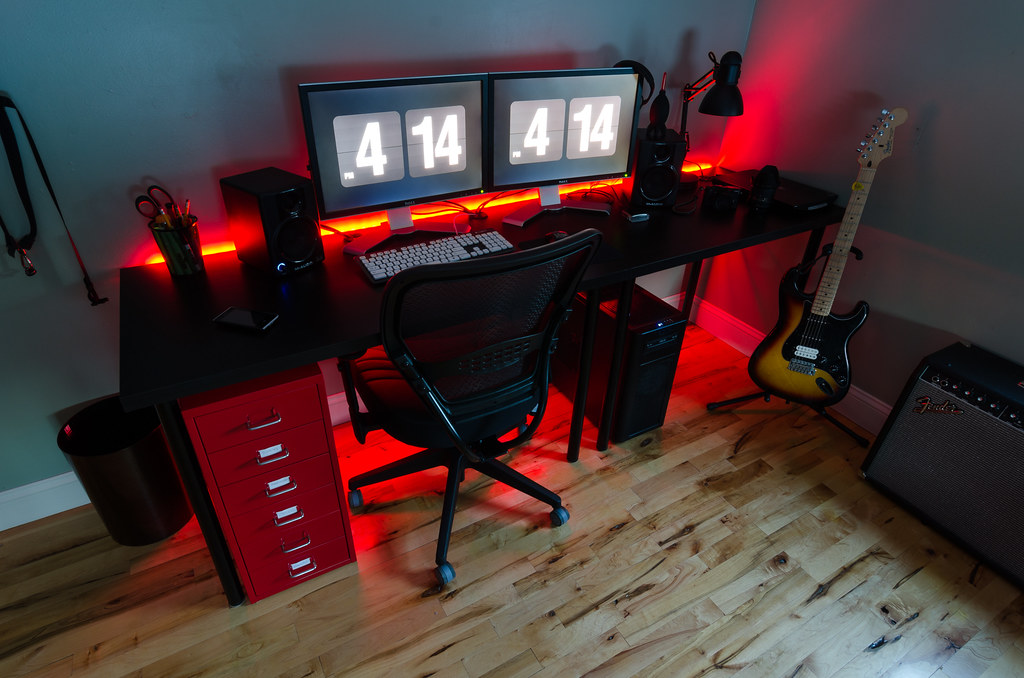2014 Desk Setup I Ve Been Working On This For The Last