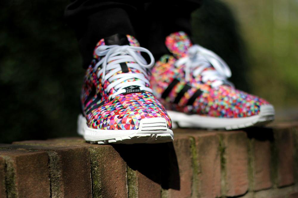 adidas original zx flux multicolor prisms
