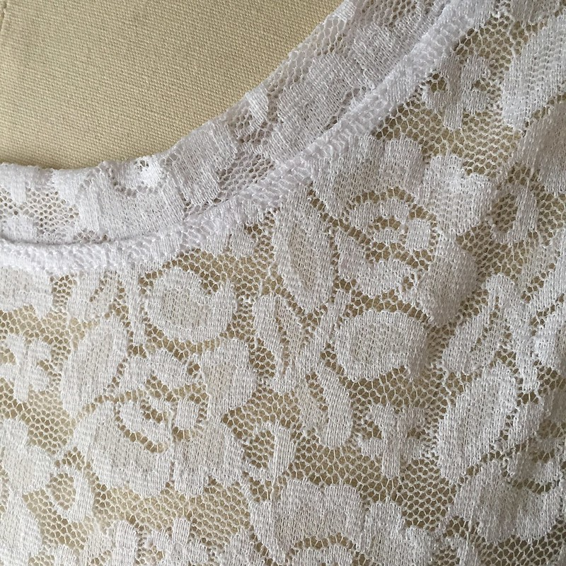 Gingham and Lace Blouse - Before