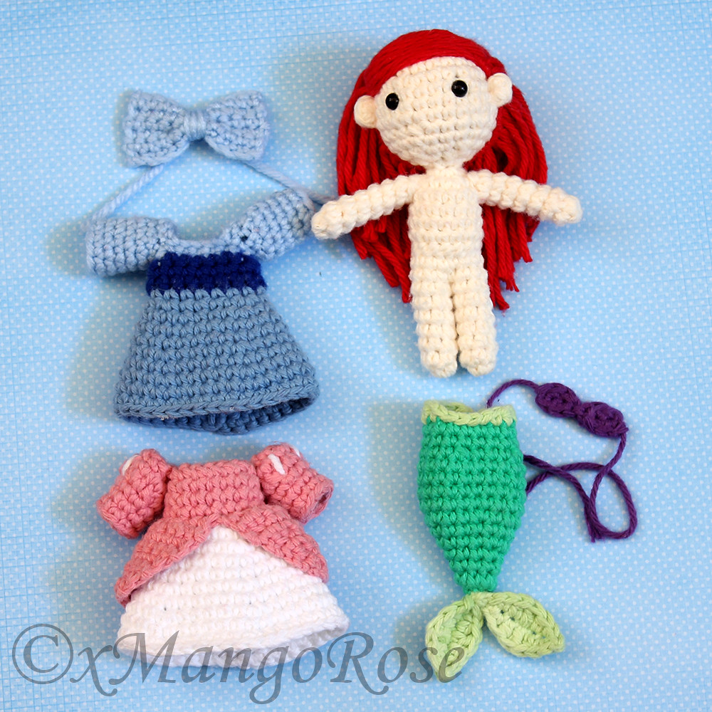 The Little Mermaid Princess Ariel Crochet Doll Amigurumi