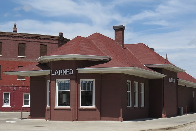Larned Depot Larned Kansas By Larry Myhre Flickr
