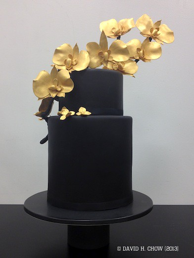 2 Tier Wedding Showcase Black Gold Cake Black And Gold