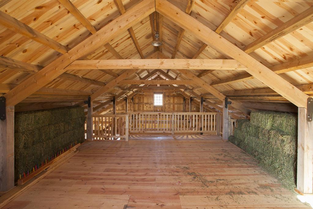 Hay Loft Inside A Ponderosa Country Barn In Iowa Sand