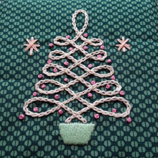 Retro Christmas Tree Mug Rug Tutorial!