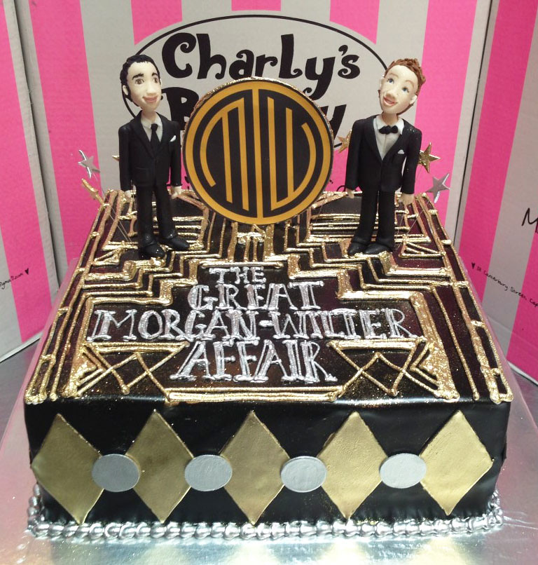 The Great Gatsby Affair Themed Engagement Party Cake With